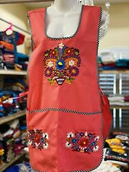 Craft Apron, One Size Fits Most , Mexican Floral Embroidery