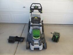 Ego Power+ Lawn Mower Lm2000-s 56v W/ Battery Ba2240 And Charger Ch5500