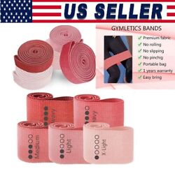 Cloth Fabric Resistance Booty Bands Loop Set Of 5 Exercise Workout Fitness Usa