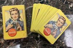 Vintage 1943 Wwii Coca-cola, Airplane Spotter Playing Cards Deck  Rare
