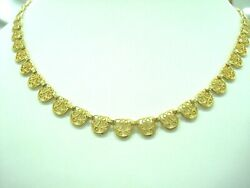 Necklace Drapery Filigree Yellow Gold 18 Carat 750/000 16 1/2in 20.90 Grs