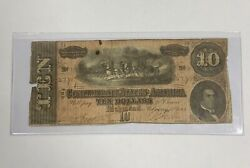 Dont Miss Out 10 Ten Dollar Confederate Note