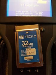Selling 2 Cards 1 Gm Tech2 Memory Card 32mb W/33.004 And 1 Saab 148.000 Card