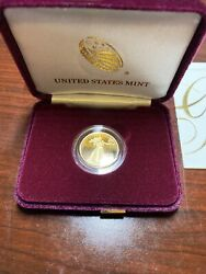 2021 W 1/4 Oz Proof Gold American Eagle 21ed - One Quarter Ounce Coin