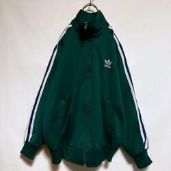 Adidas 70s 80s West Germany Descente Track Jacket Jersey Size S Blue Green Used