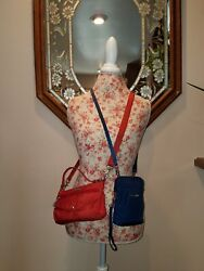 Baggallini Small Crossbody Bags Lot of Two 1 Red amp; 1 Blue EUC $30.00