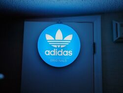Vintage Czech Republic Adidas Lighted Sign Store Display Adidas Advertising Sign