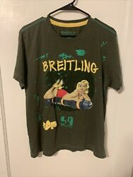 Alpha Industries Inc. Breitling 59 Army Green Embroidered Men's T-shirt Large