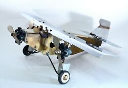 ✈ Rare Antique Licher Toy Aircraft Co. Tin Goose Ford Tri-motor Airplane Model ✈