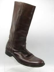 Pantanetti 23-622 Size 9 M/eu 42 Brown Leather Casual Pull On Boots Mens Shoes