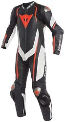 Dainese Kyalami 1pc Perf. Black White Fluo Red Motorcycle Racing Suit - New ...