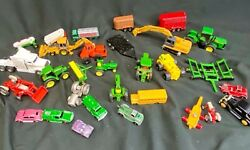 Over 4 Pounds Of Vintage Farm Tractor Toys Mostly John Deere
