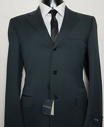 Nwt Canali Italian Navy Wool 3-button Ceremonia Suit Size 40landnbspw34 L36