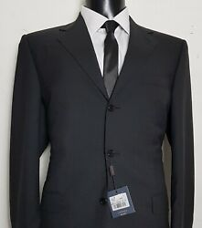 Nwt Canali Italian Charcoal Super 120and039s Wool Luxury 3button Suit 40randnbspw33 L40