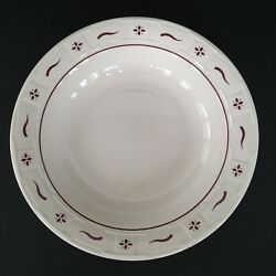 """Longaberger Pottery Woven Traditions Traditional Red Pasta Serving Bowl 12"""""""