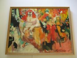 Rare May Heiloms Painting Large Abstract Expressionism 1940's Antique Modernist