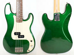 Used 2011 History / Fujigen Sh-bp4/r Candy Apple Green Mij Precision Bass W/hsc