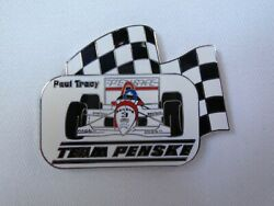 Paul Tracy Team Penske Collector Lapel Pin Mobil Indycar Indianapolis 500 Cart