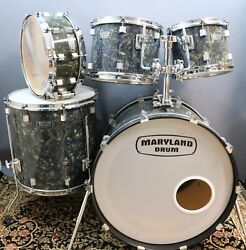 Maryland Drum Company 5pc Drum Set Shell Pack - Black Astral Finish