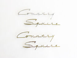 1951 - 1954 Ford Country Squire 4 Pc. Chrome Script For Woodie Wagon - Sale