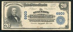 1902 20 The Staunton Nb And Trust Company Virginia National Currency Ch. 6903
