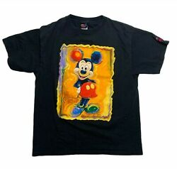 Vintage T Shirt Size Large Portrait Of Mickey Mouse Disney Art By Eric Robison
