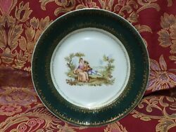 Antique Russian Imperial Kuznetsov Porcelain Plate 19th Century,very Rare
