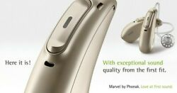 A Pair Left And Right Of New Phonak Audeo M90-r Hearing Aids With Charger