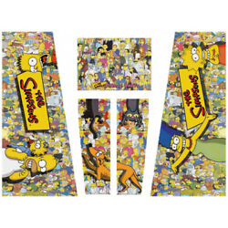 The Simpsons Pinball Party Pinball Machine Cabinet Decal Set