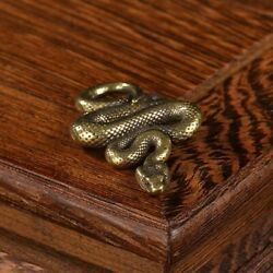 Snake Brass Ornaments Statue Vintage Gift Home Office Sculpture Accessory