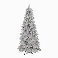 White Luminous Christmas Tree For Home Office Business Decoration Flocking Decor