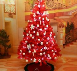 Red Christmas Tree Pvc Wire Living Room Hotel Supermarket Holiday Decoration New