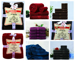 8 Pcs 100 Egyptian Combed Cotton Luxury Towel Bale Set Extra Soft And Absorbent