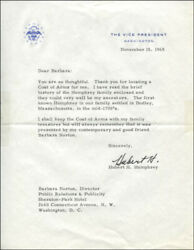Hubert H. Humphrey - Typed Letter Signed 11/15/1965
