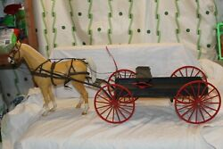 Vintage Louis Marx Company Johnny West Buckboard Wagon With Horse And Accessories
