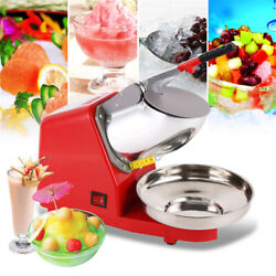 Electric Ice Crusher Shaver Snow Cone Block Breaking Grinder Dual Blades 2200rpm