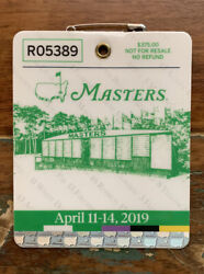 2019 Masters Badge - Augusta National Golf Club - Tiger Woods Champion