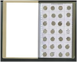 Australia 1910-64 Pre Decimal Compl. Threepence And Sixpence 3d 6d Coins- No 21/22