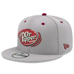 Bubba Wallace New Era 9fifty Dr. Pepper Snapback Adjustable Hat - Gray