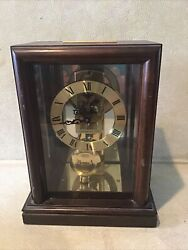 Standing Wood Frame Box Hamilton CLOCK MOVEMENT Made in German Tested working