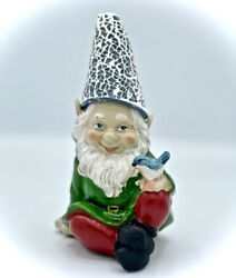 Gnome Garden Statue With Solar Lighted Hat • Indoor/outdoor, All-season