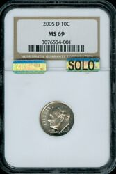 2005 D Roosevelt Dime Ngc And Mac Ms 69 Finest Spotless Solopop 1 Business Strike
