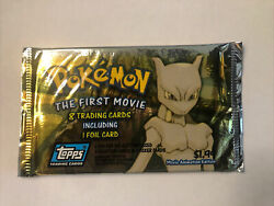 Pokemon The First Movie - 8 Trading Cards Including 1 Foil Card Unopened Pack