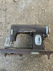 Antique Kenmore Sewing Machine W/ Cabinet Table Model 117-959 May Need Repair