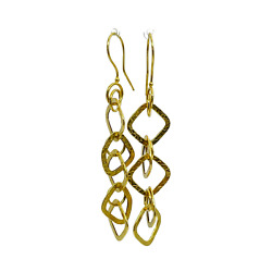 Milor Italy 14k Yellow Gold Abstract Drop Dangle Earrings