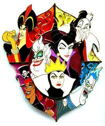 Dssh - Villain Pin Trading Event - Jumbo Villains Stained Glass Pin Le 150