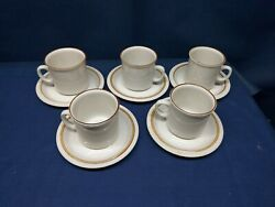 Vintage Sunmarc Stoneware Pantry Collection Honey 5 Sets Cups/saucers Japan
