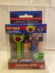 Funko Pez Masters Of The Universe Kobra Khan And Spikor Eccc 2021 Le1000 Mint