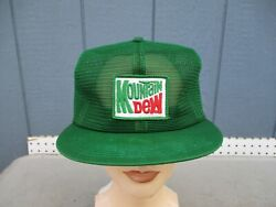 Vintage Mountain Dew Total Mesh Snap Back Truckers Hat K Products Inc. Iowa New