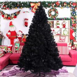 Black Christmas Tree Holiday Decorations 3.0m/ 300cm Indoor Ornaments Trees Tool